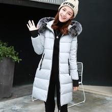 2016 зима новый длинный абзац хлопка-ватник женщин Корейский Тонкий элегантный теплый утолщение куртка
