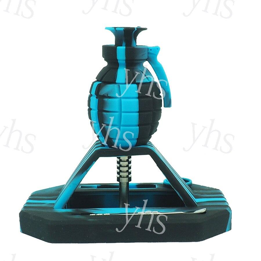 Набор из силикона разных цветов с титановыми гранатами для ногтей, табачная трубка для курения, концентрат масла