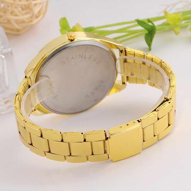2018 nouvelle marque Kanima décontracté hommes dames montre à Quartz argent doré en acier inoxydable strass montre en gros Chasy