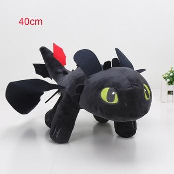 55cm 22cm 33cm 40cm Train Dragon Toothless Dragon Soft Stuffed Animal Plush Toys Juguetes de Peluches Bebe 10