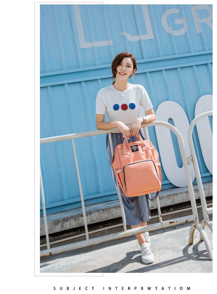 HTB1dIudXf6H8KJjy0Fjq6yXepXaV Large Capacity Baby Bag Mummy Travel Backpack Fashion Brand Designer Nursing Bag for Baby Mom Backpack Women Carry Care Bags