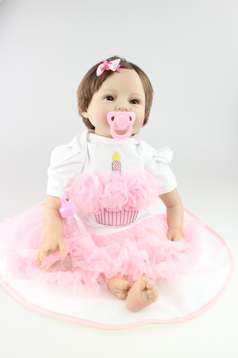 55CM Baby Sleeping Silicone Reborn Nowborn Baby Little Girl Boy Shower  Kids Christmas Gift Princess Simulation Doll55CM Baby Sleeping Silicone Reborn Nowborn Baby Little Girl Boy Shower  Kids Christmas Gift Princess Simulation Doll