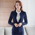 New outono inverno moda feminina plus size uniformes de manga longa carreira ternos das mulheres ternos S a 4XL Vermelho azul preto ternos Blazer