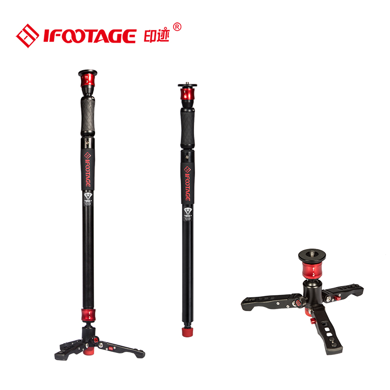 IFOOTAGE COBRA 2 STRIKE A150S Portable professionnel DSLR monopode avec Base de support et rotule Mini trépied DV