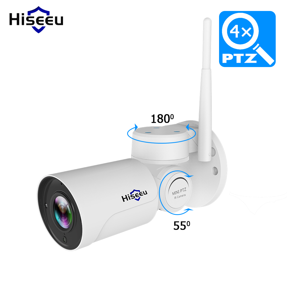 IP Camera wi fi PTZ Bullet 4X Zoom 1080P IP Speed dome CCTV camera Project Night Vision Outdoor Waterproof IP66 IRCUT P2P Hiseeu-in Surveillance Cameras from Security & Protection