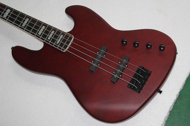 China gitarrenfabrik benutzerdefinierte 100% New Dunkelrot jazz 4 ...