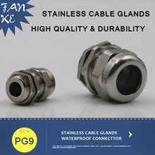 1piece PG9 Cable Distributors Stainless Cable Gland IP68 Cord Grips For 4-8mm stainless steel wire rope