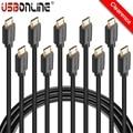 10 pcs voxlink cabo micro usb 0.5 m 1 m 1.5 m 2 m high-speed usb 2.0 data sync & cabo de carregamento usb para samsung/lg/huawei/xiaomi/htc