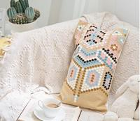 Embroidery Pillow Cover BOHO Cushion Cover 100% Cotton Wedding Pillow Cover Boho Home Decor, Custom Size&Color 45X45CM/40CMR