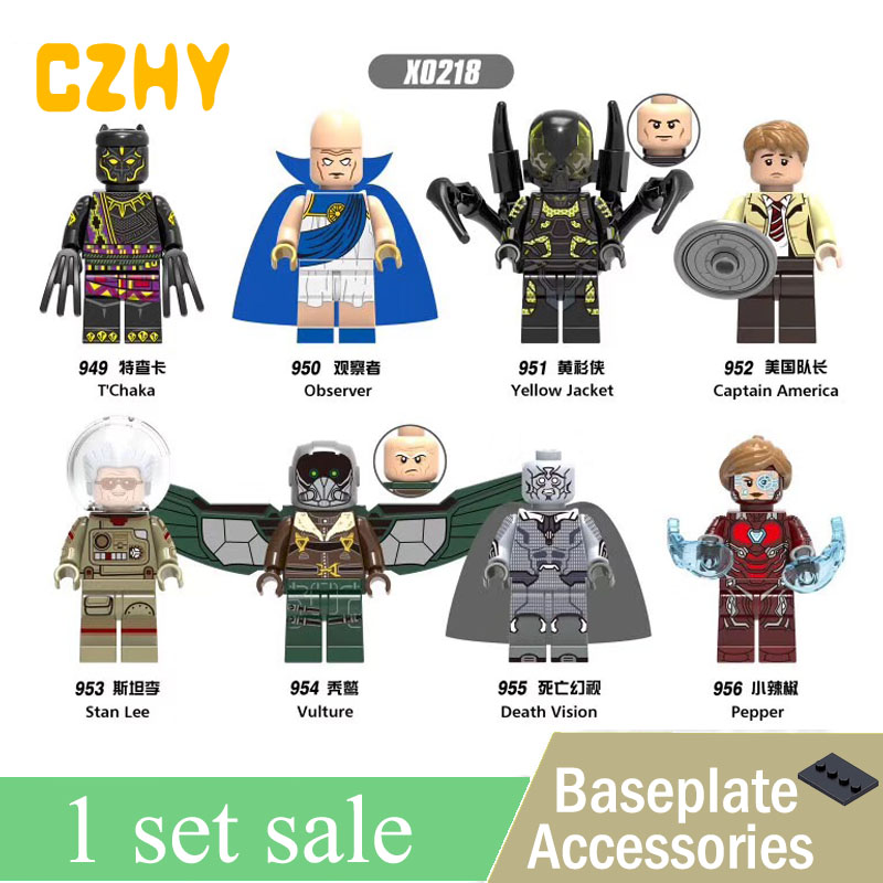 New X0218 Super Heroes Observer Yellow Jacket Captain America Vulture Figures Building Blocks Bricks Toys For Christmas Gifts 60pcs lot 108 111 ghostbusters super heroes figures with weapons building blocks bricks toys for children birthday gifts