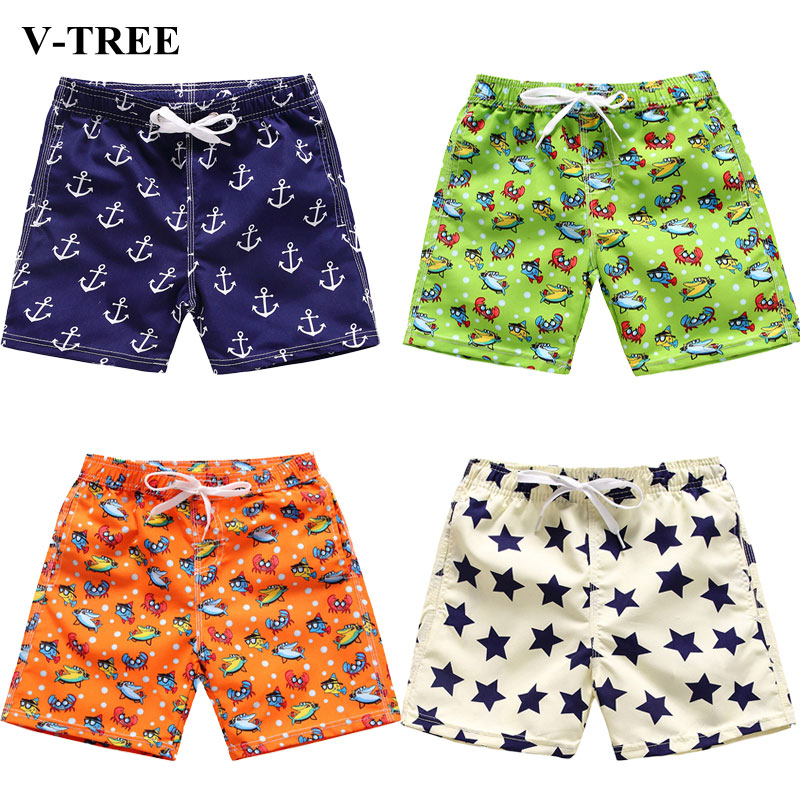 Quick-drying Boys Shorts Cartoon Teenager Beach Shorts Casual Children Pants Swimming Kids Trousers Baby Sports Shorts 3-14years