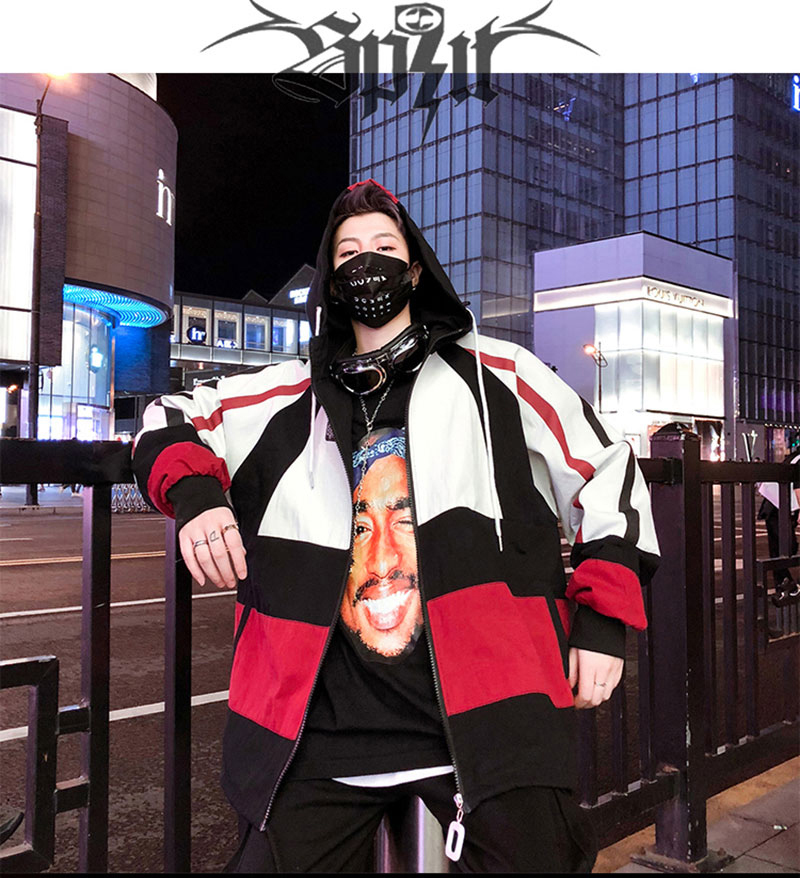 Autumn Spring Jacket Windbreaker Korean Men Hip Hop (2)