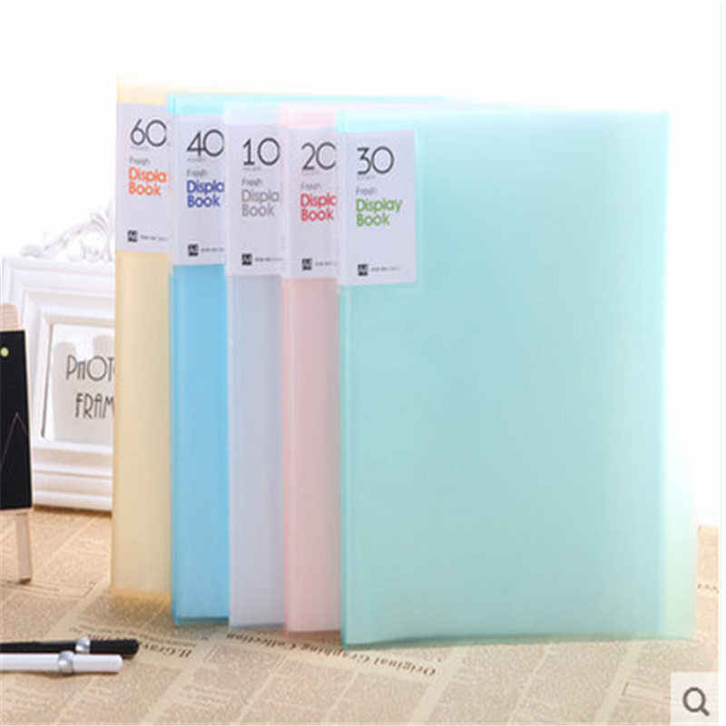 Coloffice Candy Color A4 transparent 30 pages Music folder document insert file data books cover holder clip school Supplies 1PC
