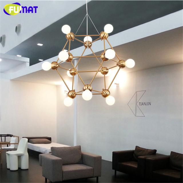 Fumat Modern Dna Chandeliers Indoor Lightings Nordic Art Decor Lamparas Colgantes Living Room Dining Bedroom