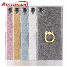 For SONY Xperia XA1 Ultra Plus Case Soft TPU Cover Clear Rings Bling Phone Glitter Cases For SONY Xperia XA 1 Ultra Plus Case for fundas sony xperia l2 case cover soft liquid glitter silicone tpu phone case for coque sony xperia l2 l 2 case cover