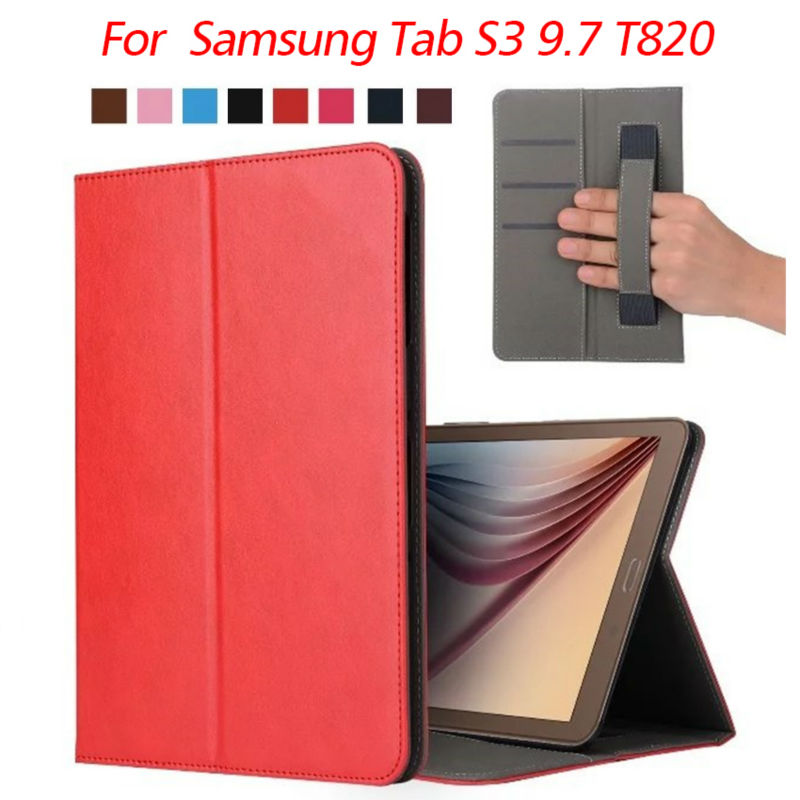 Tab S3 SM-T820 Flip PU Leather Case Slim 97'' Tablet Cases Cover For Fundas Samsung Tab S3 97 T820 Protective Stand Card Slots