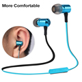 Bluetooth fone de ouvido sem fio fone de ouvido de metal fone de ouvido estéreo bluetooth com microfone para iphone samsung sony htc telefone móvel