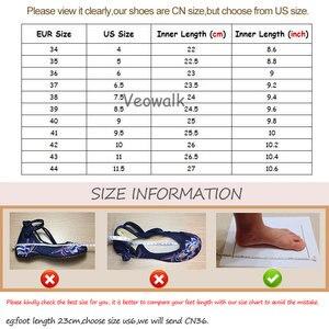 Image 5 - Veowalk Beijing Masker Geborduurd Vrouwen Canvas Slippers Zomer Dames Handgemaakte Katoenen Stof Borduren Slide Schoenen Zapatos Mujer
