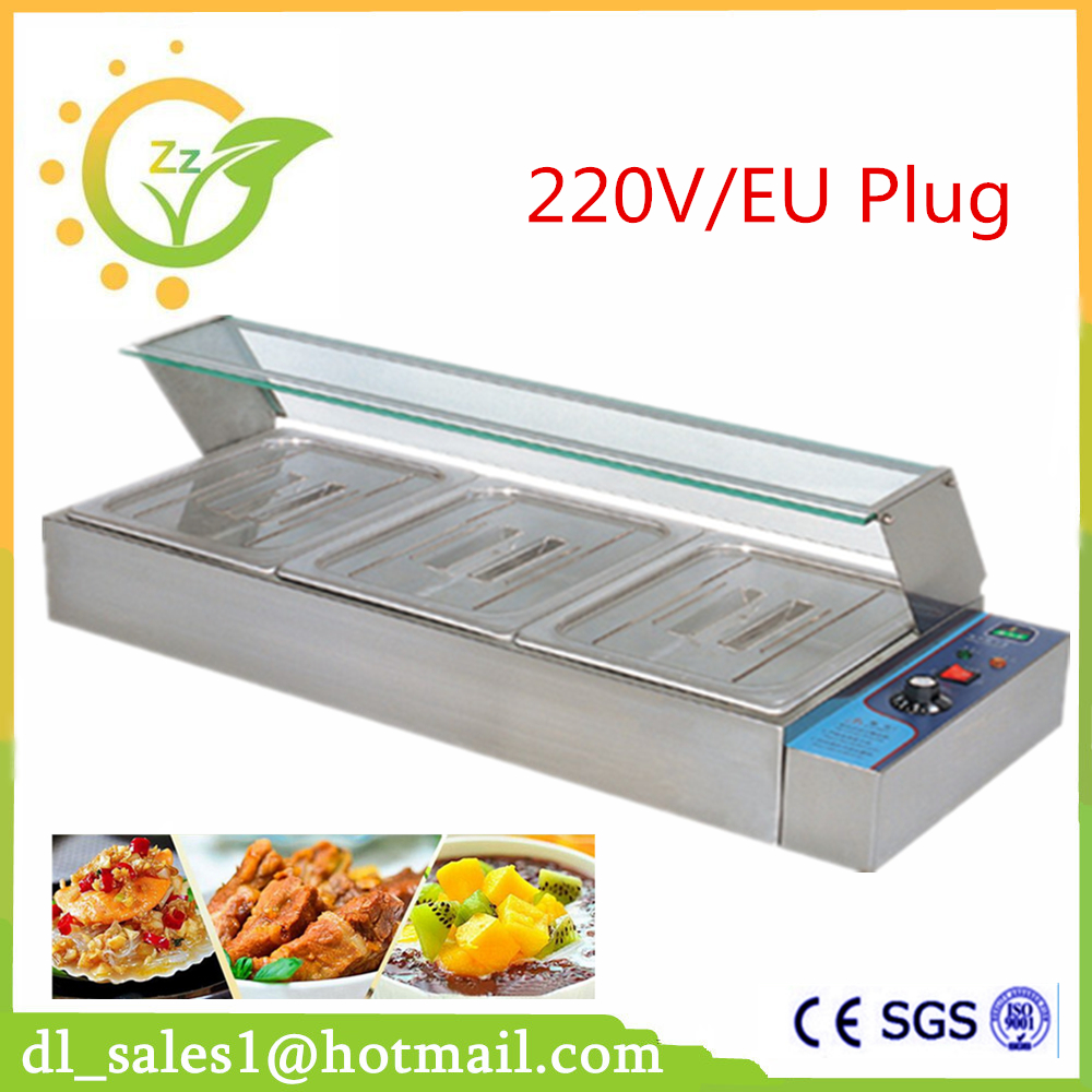 Brand New 3 Pans Electric Stainless Steel Hot Food Warmer Buffet Server Bain Marie Kitchen Equipment woman native other paper