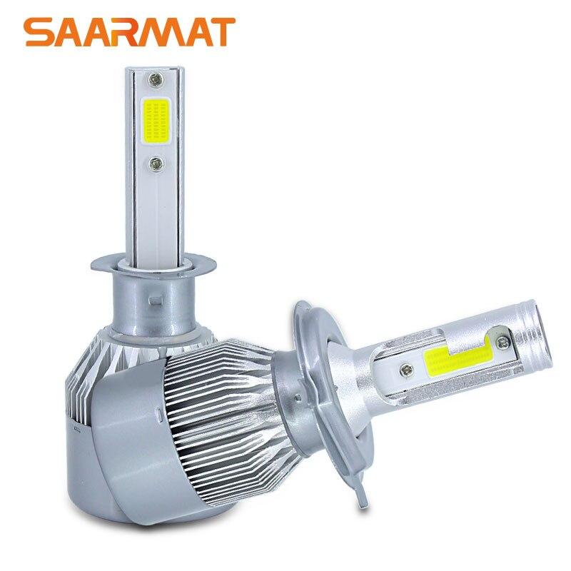 Pair 9600LM w/ COB Chips H1 H3 H4 H7 H8 H9 H11 H16(JP) 880 881 9005 H10 9006 9012 Car LED Headlight Kit Bulbs 6000K White