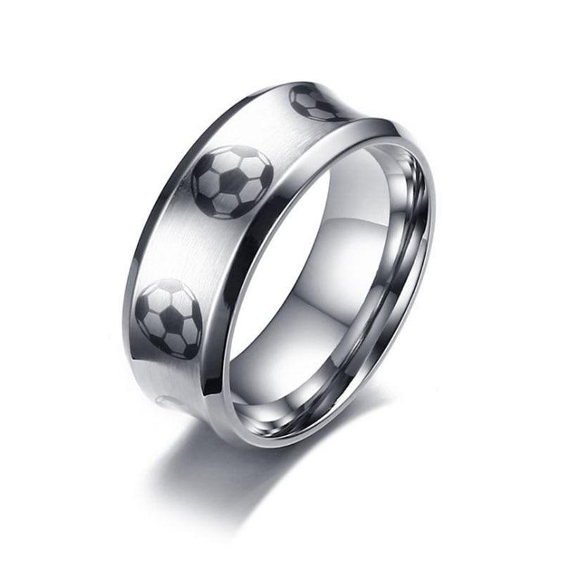 Wonderful Online Shop Stainless Steel Football Ring Mens Soccer Wedding Bands Ring  Hippie Athlete Biker Sports Men Jewelry Christmas Gift | Aliexpress Mobile