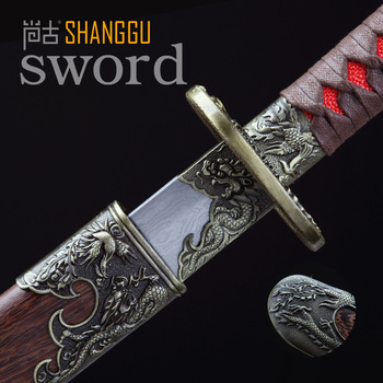 26-inch Long-handled Knife Damascus Ancient Oriental Soldier Weapon Long Knife Movie Roles Sharp Real Sword Military