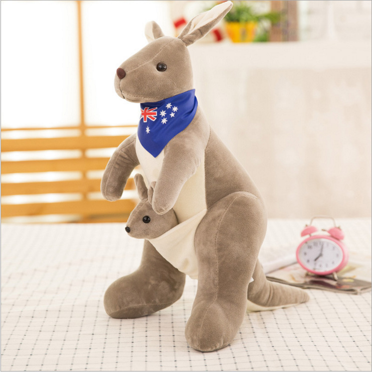Kangaroo Plush Toy Doll Mother Child Company Year Annual Meeting Gift