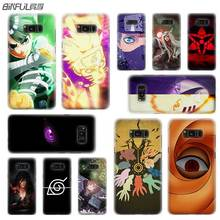BINFUL case cover hard Transparent for Samsung S9 S8 S7 S6 S5 S4 S10 Edge Plus Mini Galaxy Note 9 8 5 4 Anime Naruto akatsuki