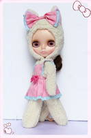 For blythe dolls, for 1/6 baby cat suit, winter suits for 30 cm dolls