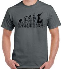 Hunt ING Evolution Mens Funny T-Shirt Hunter Clay Pigeon Shooting Target Gun New T Shirts Tops Tee Unisex