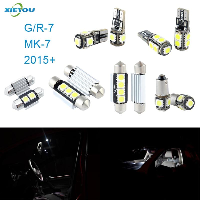 XIEYOU 9ks LED sada pro osvětlení interiéru Canbus pro MK7 (2015+)