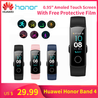 Drop Shopping USD 29.99 Huawei Honor Band 4 Smart Bracelet Wristbands Amoled Color 0.95 TouchScreen 5ATM Waterproof Swim Detect