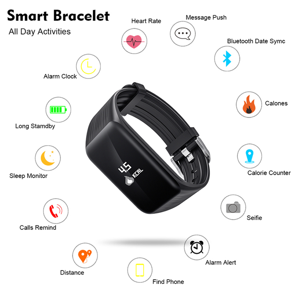 US $11 75 72% OFF Wearpai K1 continuous heart rate smart bracelet with  sleep monitor use wearfit 2 0 APP-in Smart Wristbands from Consumer  Electronics