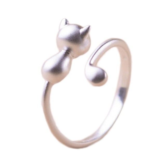 Women Jewelry Beautiful Open Cat Ring