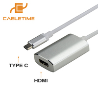 Cabletime USB C para Cabo HDMI Tipo C para HDMI USB C 3.1 Adaptador Macho-Tipo C Cabo 4 K * 2 K Cabo para Macbook Google Chromebook Pixel