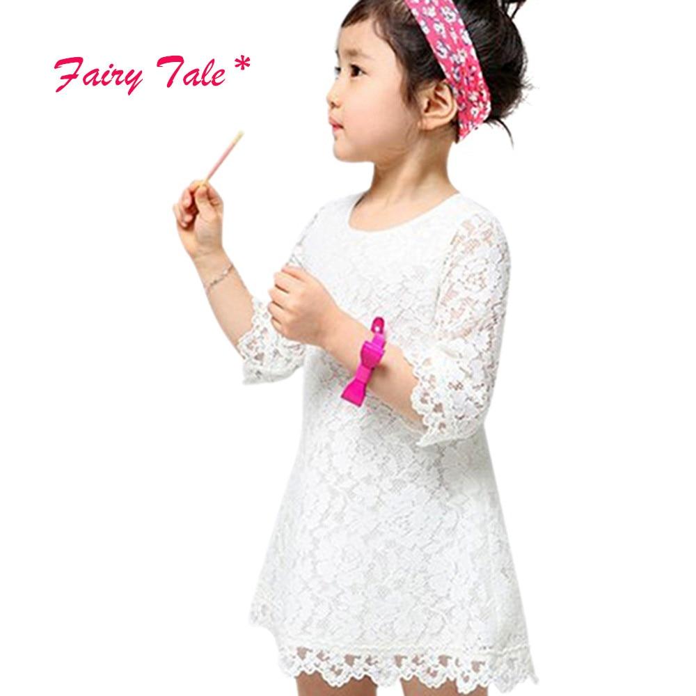 d583c19f35bd7 Belle Bébé Filles Dentelle Floral Fleur A-ligne Robes Filles Enfants D été Princesse  Robe 2-7Y
