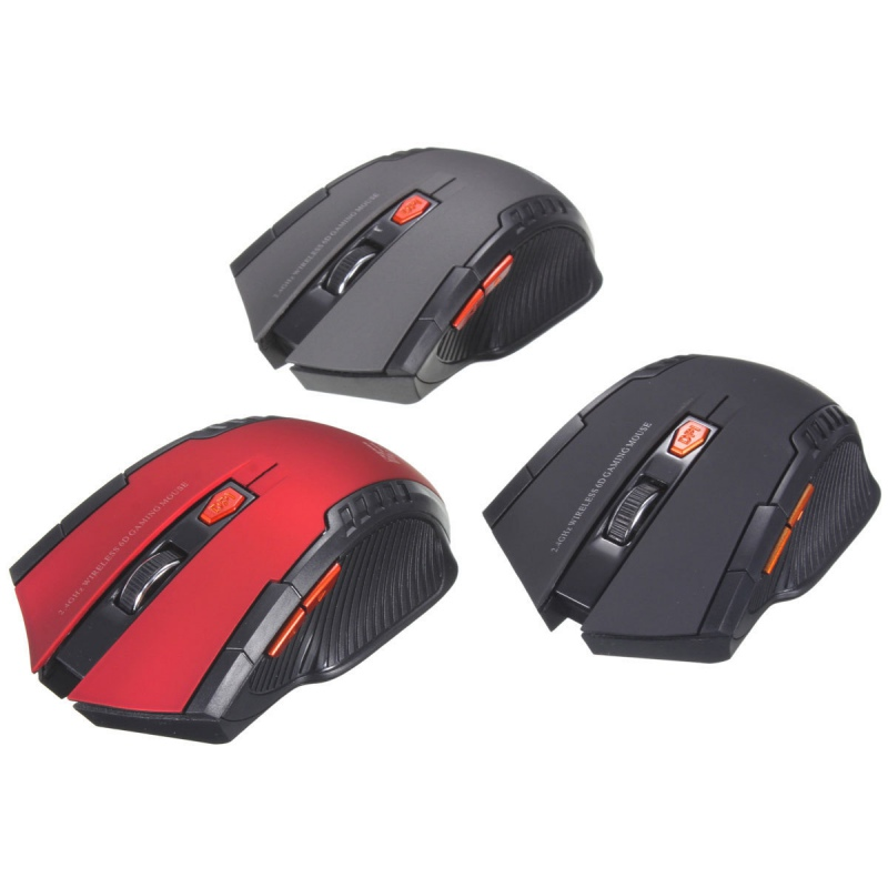 Wireless Mouse Portable USB Wireless Mouse Metal Ergonomic Mice For Computer PC Laptop