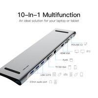 Мульти все в 1 usb type C type C к HDMI VGA Видео Аудио конвертер, usb адаптер C 3,0 концентратор с SD/TF кард ридер для Macbook Pro