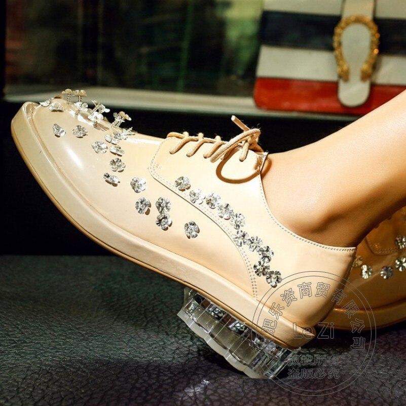 Beauty Eru 34 39 PU Bright Anti Slip Shoes For font b Women b font Solid