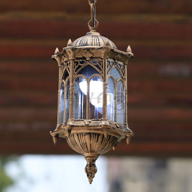 European Vintage Outdoor Porch Pendant Lights Courtyard Corridor Hanging Lighting  Porch Balcony Garden Dining Room Pendant