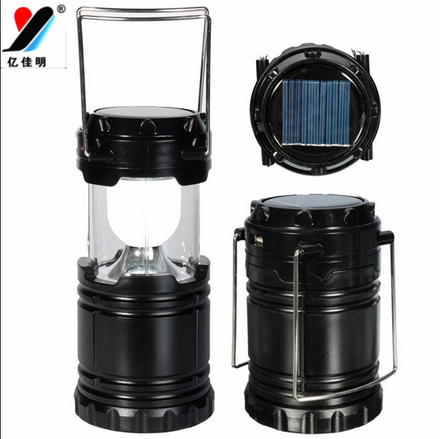2017 Arrival 6 LED Hand Portable Lamp Collapsible Solar Camping Lantern Tent Light Emergencies Hurricanes Outdoor Lighting