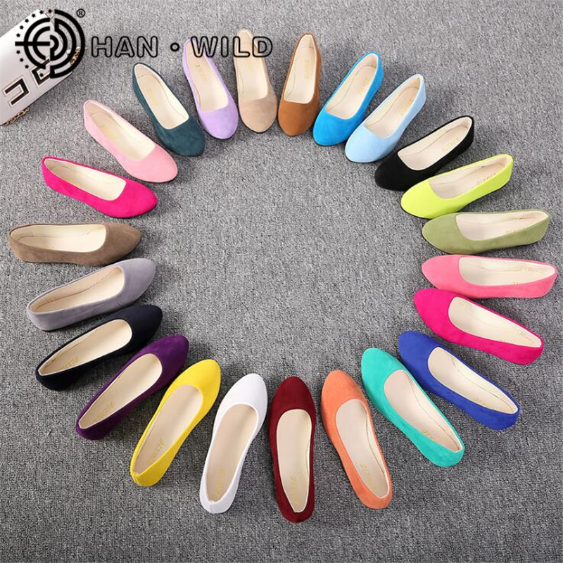 2018 Casual Shoes Women Shoes Woman Flats High Quality Suede Slip-on Shoes Pointed Toe Rubber Women Flat Shoes Ballet Flats цена 2017
