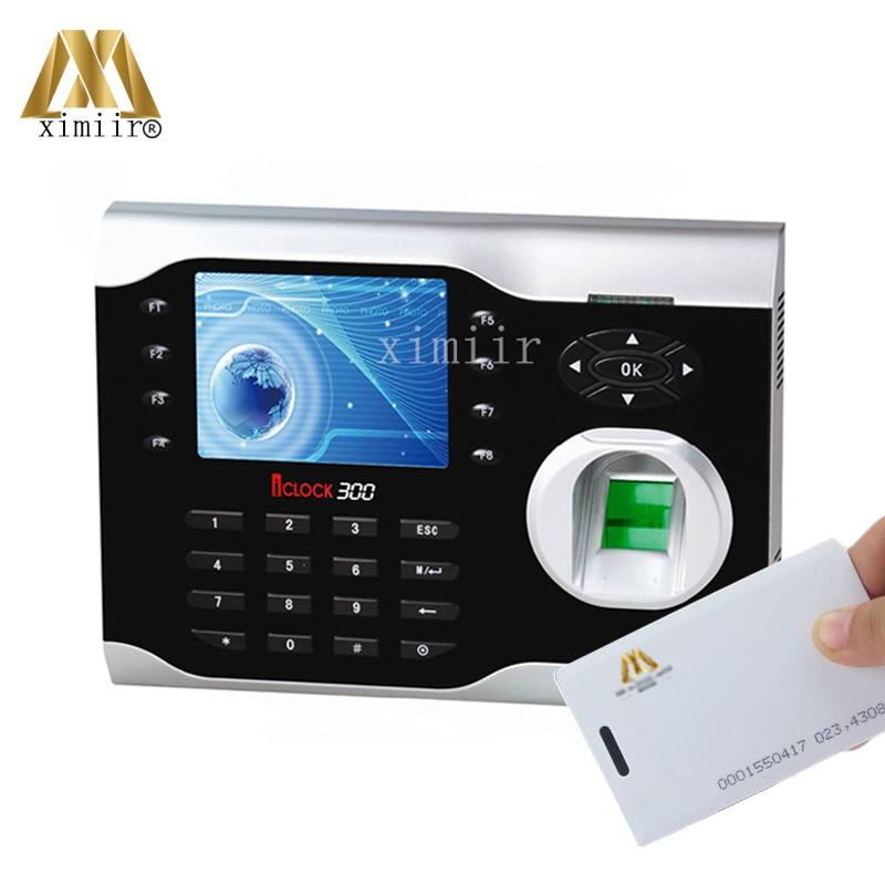 ZK Iclock300 8000 Fingerprints High-Speed TCP/IP Fingerprint Time Attendance With 125Khz RFID Card & Fingerprint Time Clock