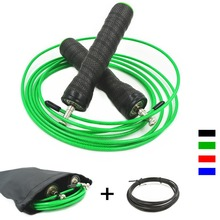 Adjustable High Speed Jump Rope With Bag&Extra Cable Skipping Rope Anti-Slip Handles For Crossfit Boxing Jumping Rope