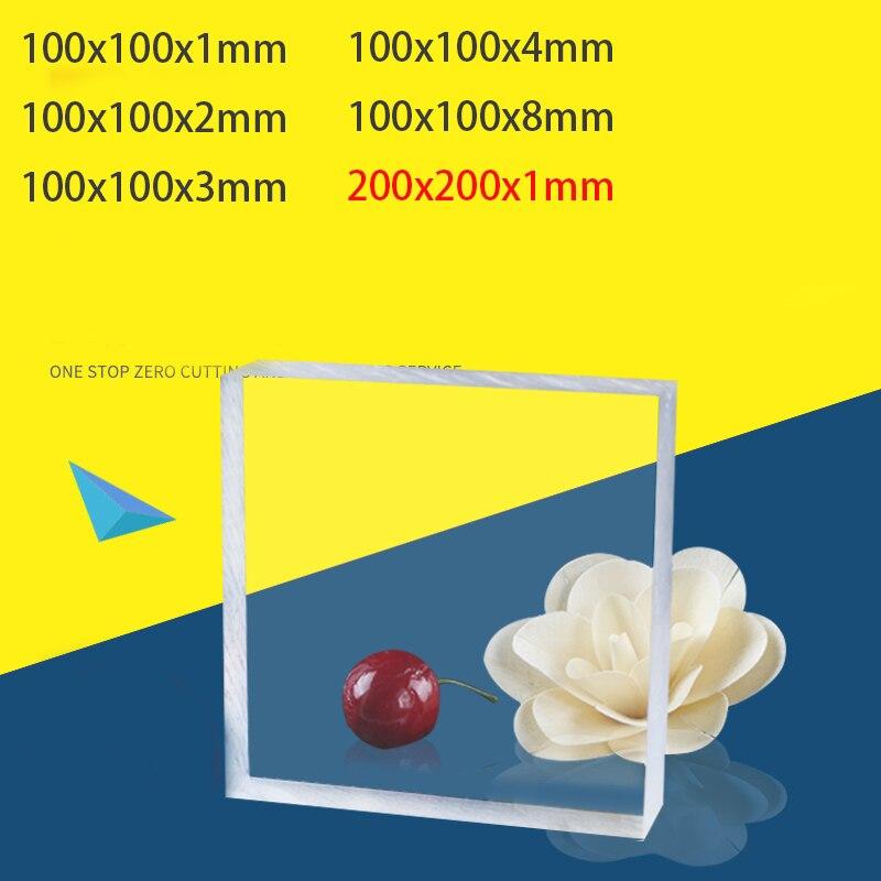 Acrylic Sheets Transparent Plastic For Plexiglass Perspex Sheet Plast Pressure Plate Clay Tool Cake Tool 100x100mm 200x200mm