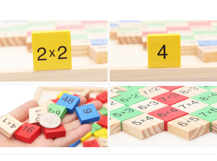 Montessori Wood Multiplication Table Wooden Children Educational Toys 99  Arithmetic Math Toy Figure Building Blocks Christmas Gift (2)