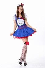 Señora de halloween clásico niñas cosplay cosplay juego de rol juego de anime de moda lentejuelas make up party dress b-4120