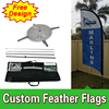 Double Sided Feather Flags Banners With Cross Base Cheap Custom Free Design Free Shipping Feather Flag