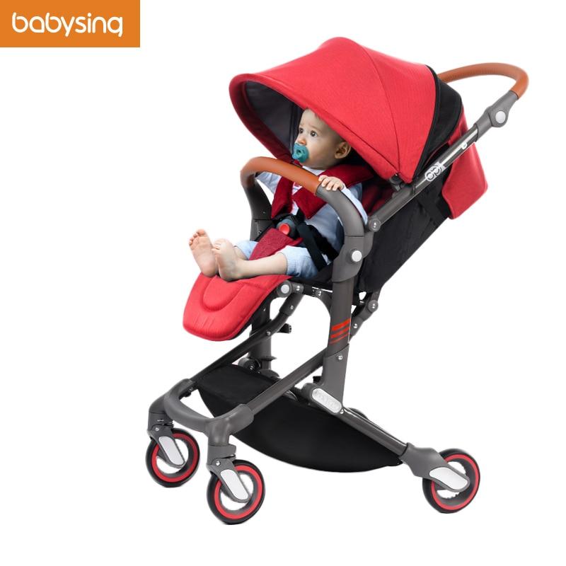SUR VENTE Babysing I-GO Bébé Poussette Haute Paysage Portable Léger Bébé Transport Pliable Bébé De Voiture Poussette Parapluie Poussette