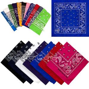 Scarf Headwear Bandana Paisley Hairwrap Cotton Biker Cowboy Wrist Double-Sided Sports